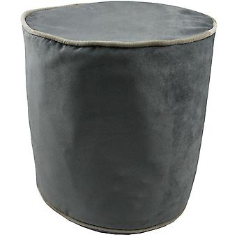 Mcalister textiles deluxe velvet charcoal grey ottoman