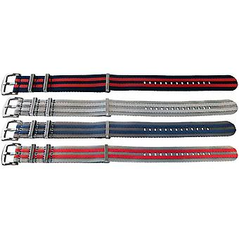 N.a.t.o zulu g10 style watch strap high quality fabric striped with stainless steel luxury buckle