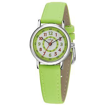 ATRIUM Ceas de mana pentru copii Analog Quartz Boys Faux piele A31-103 verde