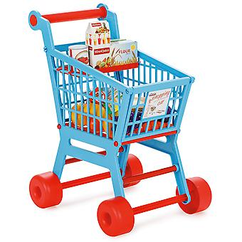 Pilsan Practical Shopping Trolley Blue/Red