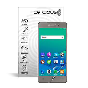Celicious Vivid Invisible Glossy HD Screen Protector Film Compatible with Gionee S6s [Pack of 2]