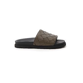 Bottega Veneta 578264vt0303357 Men's Green Leather Sandals