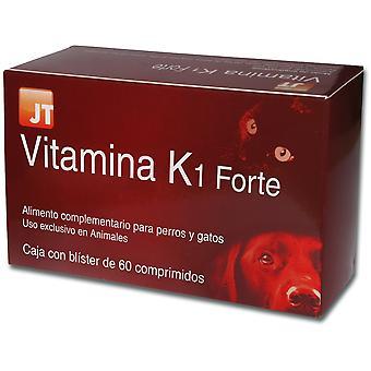 JTPharma Complemento para Perros y Gatos Vitamina K1 Forte 60 Comprimidos