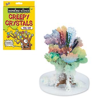 Horrible ciencia espeluznante cristales