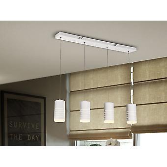 Schuller Vika - lampe LED, en métal, fini en blanc mat poncé. Diffuseur acrylique opale. 33.6W LED, 3200 lm, 3000 K. - 847235