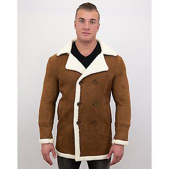 Manteau en fausse fourrure-Lammy Coat long-brun