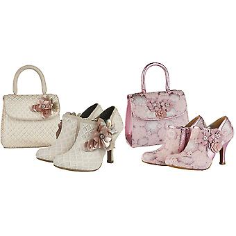 Ruby Shoo Mujeres's Electra Brocade Jewelled Bootie & Matching Electra Bag
