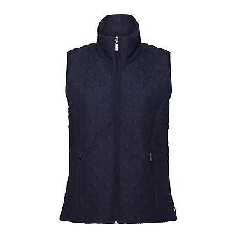 TIGI Blue High Collar Gilet