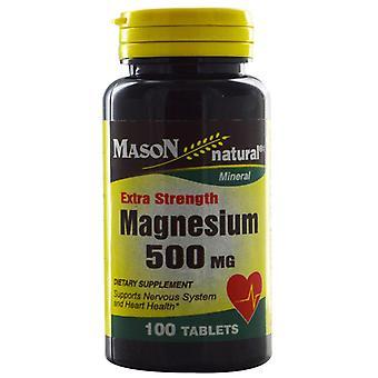 Mason natural magnesium, 500 mg, tablets, 100 ea