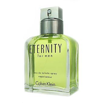 Ck evighet för män av Calvin Klein 3,4 oz eau de toilette spray testare