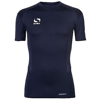 Sondico Mens Core bas lager Top Kortärmad Compression Fit sport T Shirt Tee