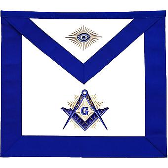 Masonic master mason lodge apron with radiant g