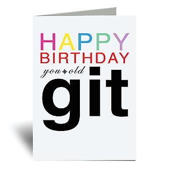 Hyvää syntymäpäivää Vanha Git Kortti A6 Onnittelukortti