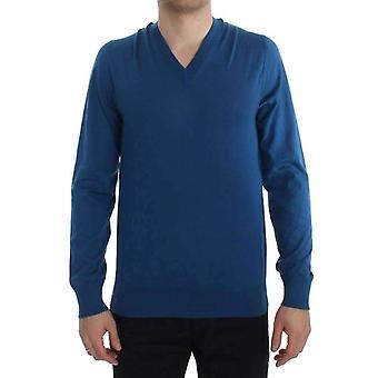 ドルチェ&ガッバーナ ブルー カシミア Vネック プルオーバー セーター TIT2815685
