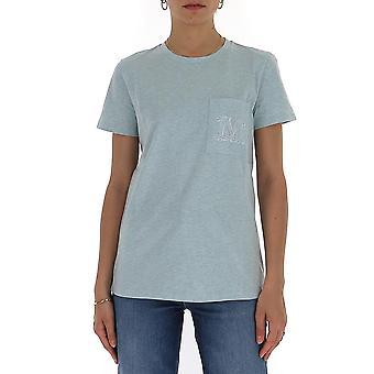 Max Mara 19710102600165002 Women's Light Blue Cotton T-shirt