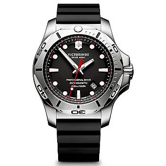 Victorinox Stainless Stainless Watch for Analog Man Quartz With Rubber Bracelet V241733