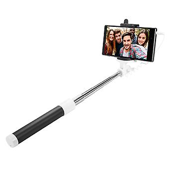 Selfie Stick for Phone from 55 to 85 mm 3.5 mm Jack Retractable 50cm- Black