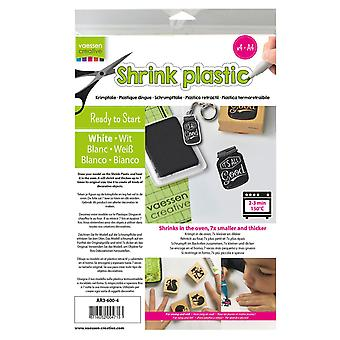 Vaessen Creative A4 White Shrink Plastic – 4 Sheets