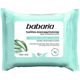 Babaria Aloe Vera Make-up Remover Pyyhkeet
