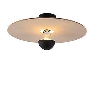 QAZQA Lampe de plafond noir ombre plate taupe 45 cm - Combi