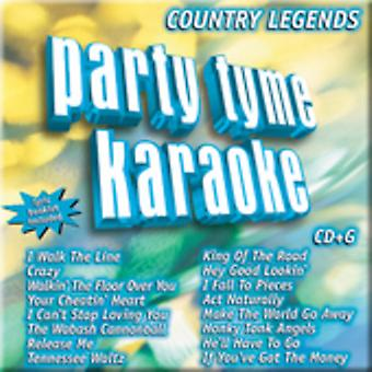 Party Tyme Karaoke - Party Tyme Karaoke: Vol. 1-Country Legends [CD] USA import