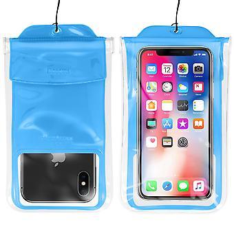 Pochette Smartphone Jusqu'à 7'' Étanche Waterproof 30m IPX8 Airbag Baseus Bleu