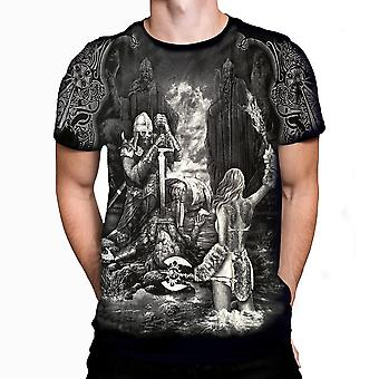 Aquila - gates of valhalla - men's t-shirt