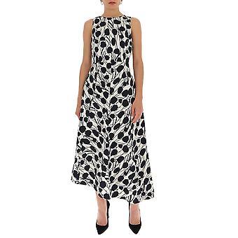 La Double J Dre0079cot006moses Women's White/black Polyester Dress