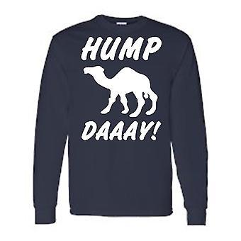 Men's Blanco divertido ¿Qué día es? ¡Día de la joroba! Camel Camiseta De manga larga Royal