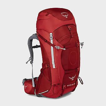 Osprey Ariel Ag 65L Rucksack Travel Bag Pack Rojo