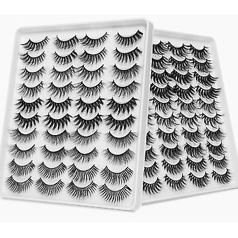3d Mink Hair False Eyelashes - Handmade Natural/thick Long Eye 8d Lashes Makeup