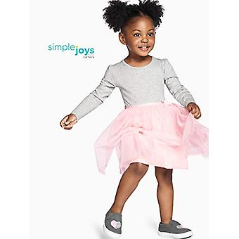 Simple Joys af Carter's Girls' Toddler 2-Pack langærmet kjole sæt med Tull...