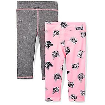 Brand - Spotted Zebra Girls' Little Kid 2-Pack Active Capri Legging, K...