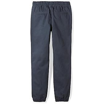 Brand - Spotted Zebra Big Boys' Woven Jogger Pants, Navy, Large (10)