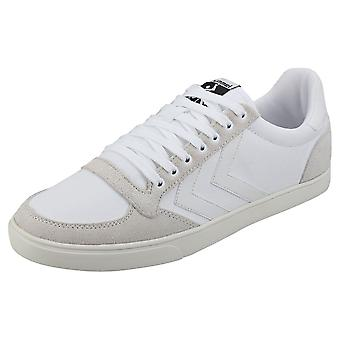 hummel Slimmer Stadil Tonal Low Mens Casual Trainers in White