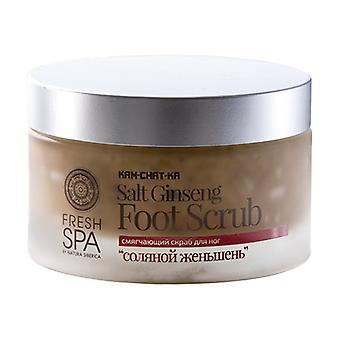 Kam-Chat-Ka Salt Ginseng Foot Scrub, Smoothing 200 ml of cream
