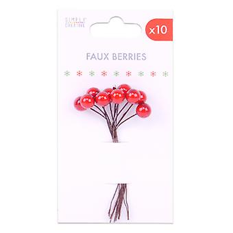 Simply Creative Basics Faux Berries Red