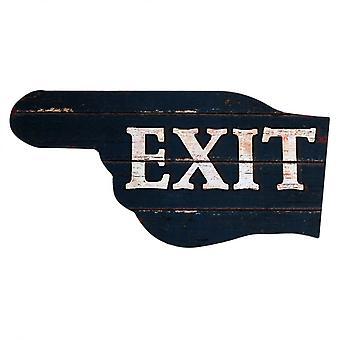 Rebecca huonekalut koriste plakin puinen levy harmaa seinä exit 40x20x1