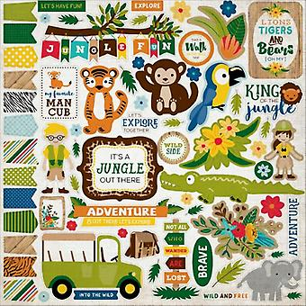 Jungle Safari Cardstock Tarrat 12'X12&-Element