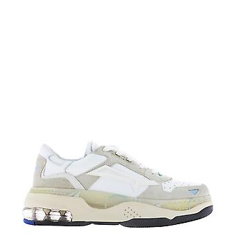 Premiata Draked0033d Women's White Leather Sneakers