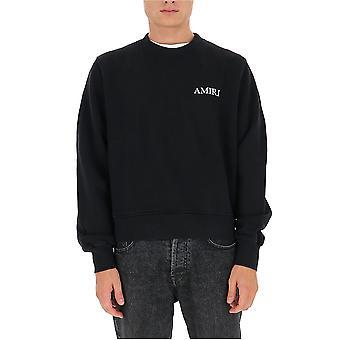 Amiri F0m02218teblk Men's Black Cotton Sweatshirt