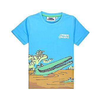 Children's Roald Dahl The Enormous Crocodile Blue T-Shirt