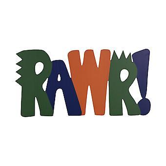 """20"""" X 10"""" """"RAWR"""" Wall Decor"""