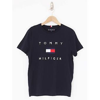 Tommy Hilfiger Tommy Bandiera Tee - Cielo del Deserto
