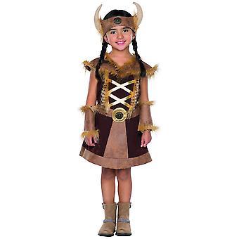 Wikinger Mädchen Wilder Westen Indianer Kinder Kostüm Krieger