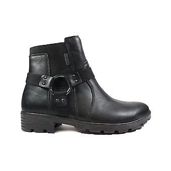 Ricosta Rieka 7227400-092 Botas de tobillo para niñas de cuero negro