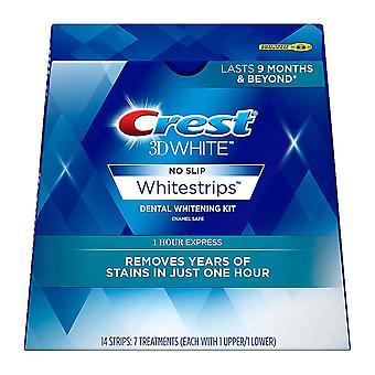 Crest 3d whitestrips 1 hour express teeth whitening kit, 14 ea