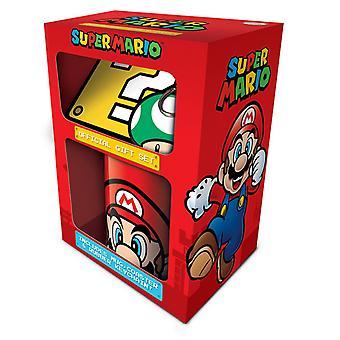 Super Mario Mug Coaster et porte-clés cadeau ensemble