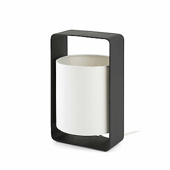 1 Light Small Table Lamp Vit, Svart med vit nyans, E27