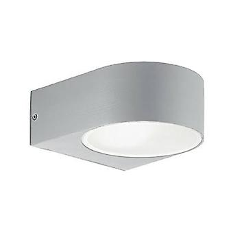 Ideal Lux Iko - 1 luz al aire libre arriba pared gris claro IP55, E27